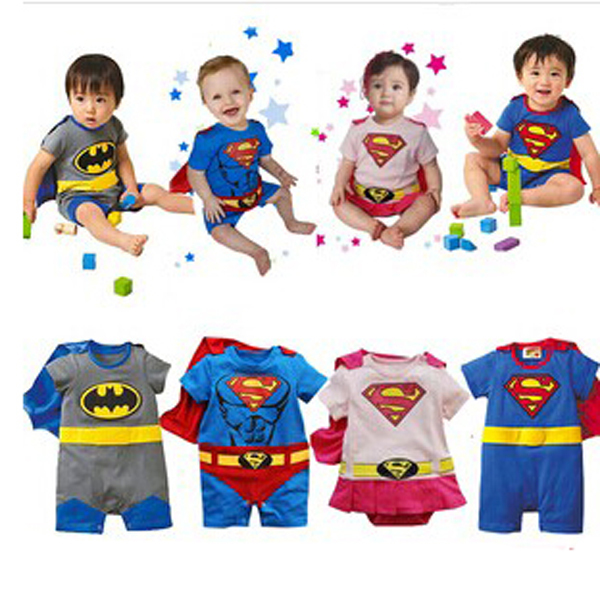 2015 Hot Superman Baby Boy Girls Rompers Baby Jumpsuit Short Sleeve Character Halloween Christmas Costume Baby Clothing<br><br>Aliexpress