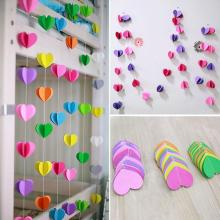 Artificial Paper Flowers Heart Pompom Wedding Banquet Decoration Home Decor Colgante Party Supplies Mulicolor Free Shipping