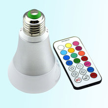 10W 900LM AC85-265V White Warm E27 LED Bulb Dimmable Remote Control RGBW