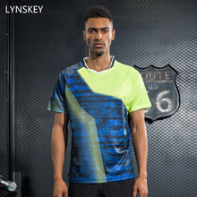 LYNSKEY New Tennis Sportswear Men Badminton Shirt Table Tennis Clothes Breathable Jerseys Quick Dry Sports Clothing