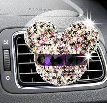 Cartoon Car Styling perfumes 100 original Air Freshener Perfume for Car Air Condition Vent Mickey Minnie(China)