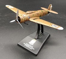 Value Out of print LEO 1: 100 World War II Italian Air Force Breda Ba.65 Attacker Model Alloy aircraft model Collection model