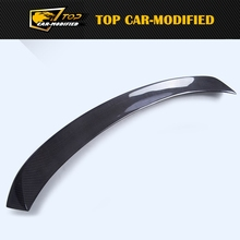 Free shipping Carbon fiber rear trunk spoiler wing,Carbon Fiber Middle Race Spoiler for Porsche Cayenne 958 14-16(China)