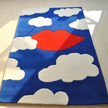 Bedroom Sofa Tea table Children Carpet Study Mat Cartoon White clouds Manual fabrication Rug Tapis Alfombras Tapete Rug(China)