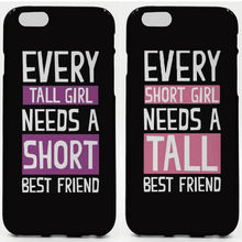 Best Friend Short Phone Cases Soft TPU For iPhone 6 7 Plus SE 5S 4S Touch 6 For Samsung Galaxy S8 Plus S7 S6 Edge S4 S5 Note 5(China)