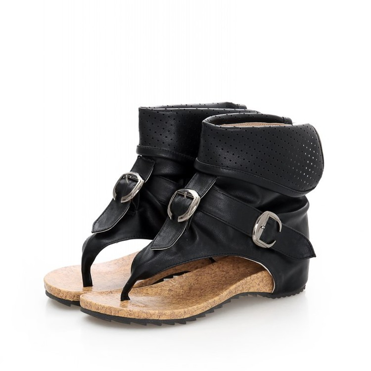 Charming High Quality Roman Sandals Cool Clip Toe Flat Boots 2017 Fashion Women Summer Boots Hollow Ankle Boots Buckle<br>