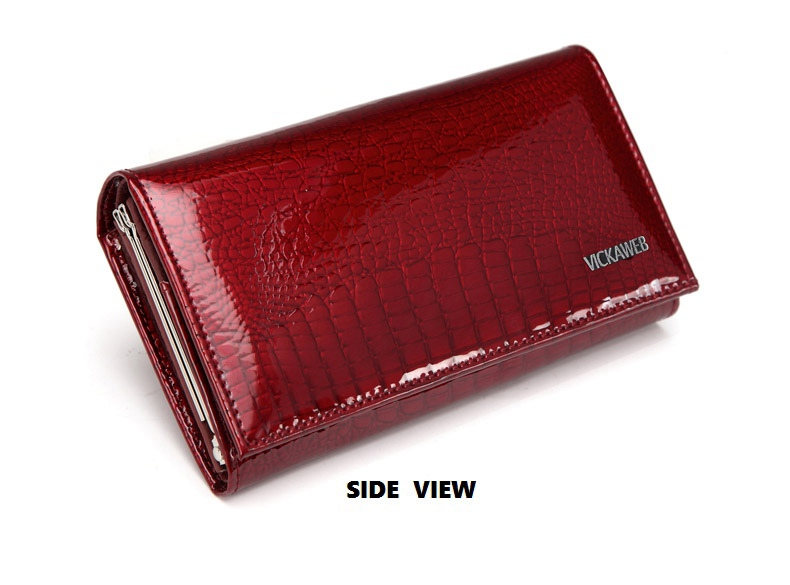 VICKAWEB Genuine Leather Small Wallet Women Wallets Alligator Short Purse Coins Hasp Girls Wallet Fashion Female Ladies Wallets-009