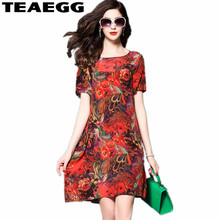 Buy TEAEGG Vestidos Verano 2018 Red Dress Womens Clothing Slim Floral Dress Summer Robe Femme New Loose Ladies Dresses Woman AL817 for $19.84 in AliExpress store