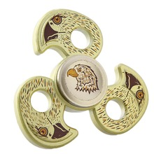 Tri-Spinner Three Leaf Olecranon Eagle Head Finger Spinner For Autism and ADHD Rotation Time Long Anti Stress Hand Spinner Toys