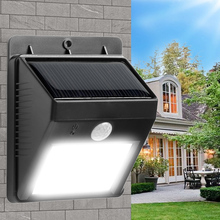 Bright Solar Power Outdoor Security Motion Activated LED Wall Light Garden Corridor Pathway Emergency Light