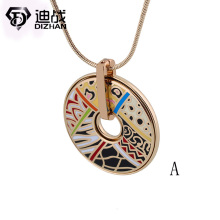 High quality Jewelry dubai enamel Jewelry Stainless Steel enamel Leopard necklace circular pendant necklace For Woman Jewelry