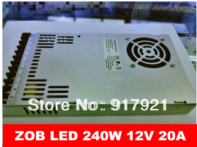 ZOB LED the latest products 240W 12V 20A AC/DC200V-240V switching power supply 240w led display / module dedicated wholesale<br>
