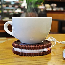 Portable Cookie Shape Cup Mat USB Power Supply Cable Heater Mat Drinks Warmer Tiny Mug Drink Coaster Vacuum Cup Pad(China)