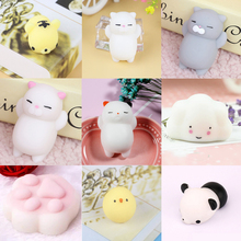 Universal Cute Mini Cat Paw Fox Squeeze Squishy Toy Phone Charms DIY Accessories For All Smartphone Ultra Soft TPR Squeeze(China)
