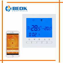 BEOK BOT-313 WIFI Gas Boiler Heating Thermostat Blue Light Room Temperature Controller Regulator for Boilers Weekly Programmable(China)