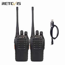 2X Retevis H777 Walkie Talkie+A Programming Cable UHF400-470MHz Portable Two Way Radio CTCSS/DCS Hf Transceiver Team Comunicator