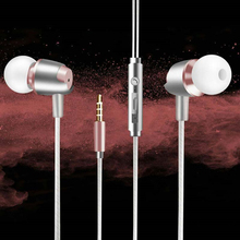 Metal Earphone Wired Noise Cancelling Earphone Sound Headphones Stereo Headset for Panasonic Eluga Prim Mark 2(China)