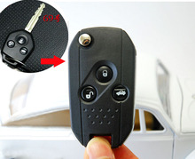 3 Button Modified Flip Folding remote Key Shell Case For XV Forester Legacy Outback Keyless Entry  Fob Key cover