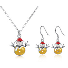 Girl Christmas Costume Jewellery Necklace Gift Turkish Silver Plated Jewelry Earrings For Children Bijouterie Wholesale Cs918-5