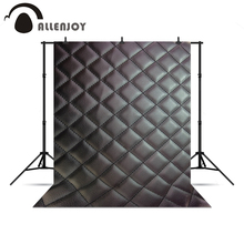 Allenjoy background for photo shoots Black leather headboard bed 3D real backgrounds for photo studio Photophone photocall