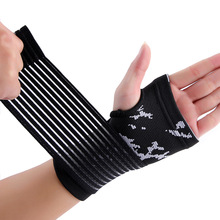 Nylon and spandex material black adjustment hand palm support brace free shipping #ST6824