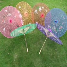 (20 pieces/lot) New 6 colors available Chinese long-straight transparent  craft umbrellas Fancy dance parasols
