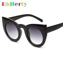 Ralferty 2017 Vintage Cat Eye Sunglasses Women Retro Sun Glasses For Woman Cateye Sunglass Black Female Shades UV400 Oculos A295(China)