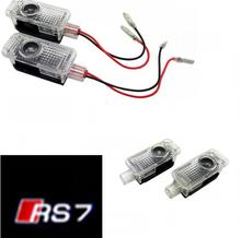 2PCS Car LED Ghost Shadow Projector Laser Courtesy Personality Logo Light For audi A8 A7 A5 A6 A4 A3 A1 R8 TT Q7 Q5 Q3