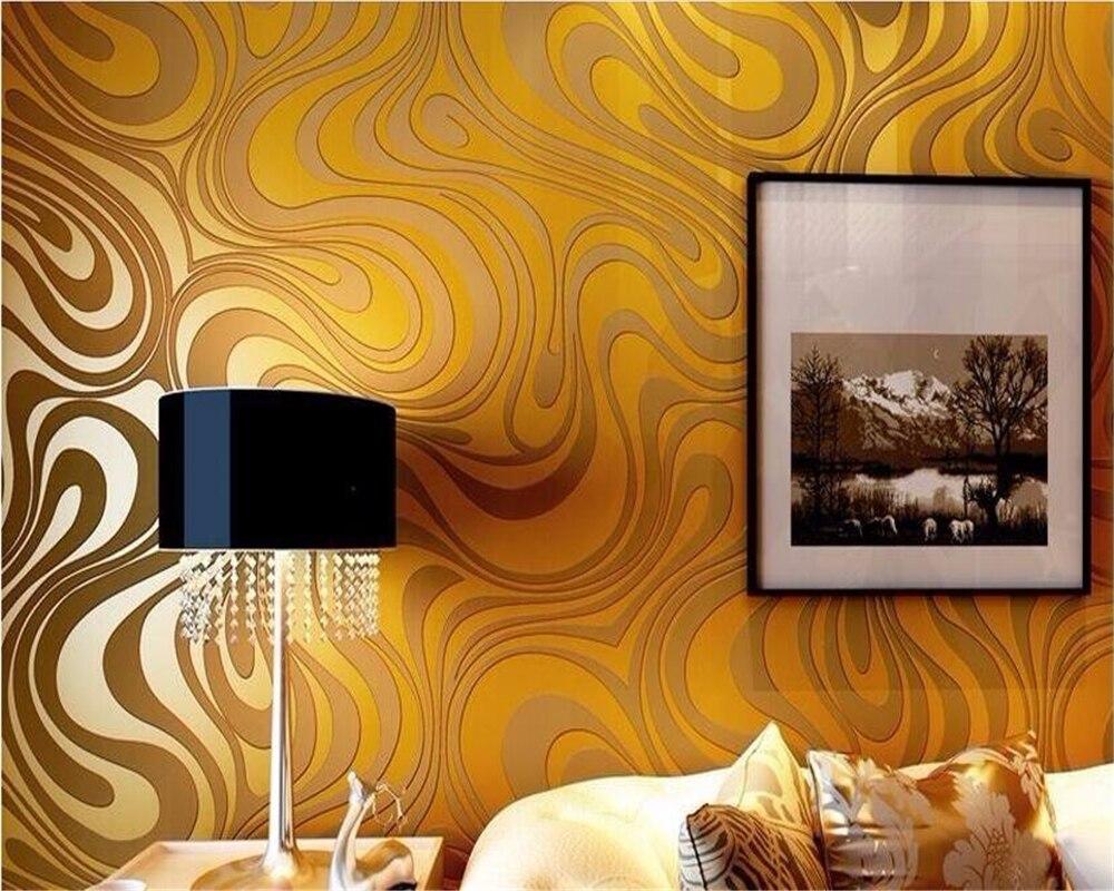 Beibehang 3d wallpaper modern minimalist living room TV backdrop sprinkle gold wallpaper 3D stereoscopic stripes wallpaper roll<br>
