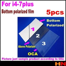 5pcs the bottom of the polaroider Polarization Film fit for iPhone 4G 4S 5 5s 6 6s 7 plus LCD seperation mirror film(China)