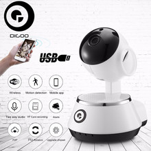 DIGOO BB-M1 Wireless WiFi USB Baby Monitor Alarm Home Security IP Camera HD 720P Audio Onvif Security Protect Camera(China)
