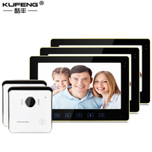 KUFENG New wired Doorbell 10 inch TFT Touch Screen Color High Definition video intercom 2v3 Free Shipping(China)