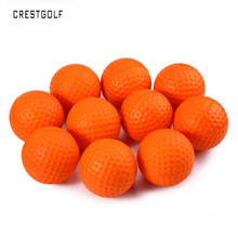 CRESTGOLF 12pcs Per Pack PU Foam Sponge Golf Practice Balls Indoor Outdoor Practice Training Balls Balle de golf Golf Pelotas(China)