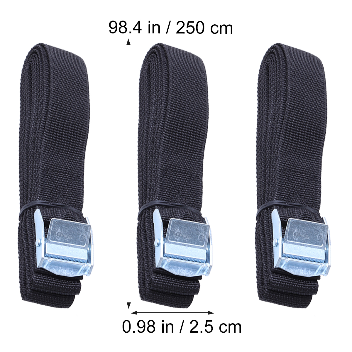 pair Tie Down Strap Roof Rack Straps 2//3 m Long 25mm cam lock buckle