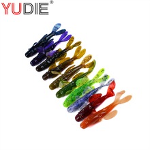 10Pcs 8.5cm 6.5g Easy Use Colorful Soft Minnow Lures Silicone Bait For Crap Fishing Tackle Wobblers Crankbait 5 Colors(China)