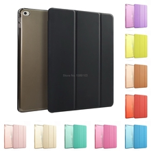 New Slim Fit Case For iPad Mini 4 With Auto Wake up/Sleep Light Weight PU Leather Trifold Stand Smart Cover Coque Funda