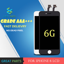 GREAT PARTS 1PCS Grade AAA Top Quanlity LCD For iPhone 6 6S LCD Display Mobile Phone Touch Screen Digitizer Assembly(China)