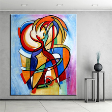 NO FRAME Printed PORTRAIT CUBIC ABSTRACT Oil Painting Canvas Prints Wall Painting For Living Room Decorations wall picture art
