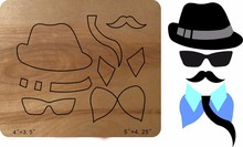Hat beard tie Wooden Die Fits Big shot Pro, Sizzix New