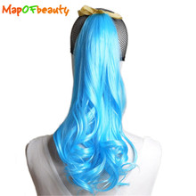 MapofBeauty Long Curly Strap type Ponytail 50cm yellow blue green red 19 colors Synthetic hair Heat Resistant Hair Extensions