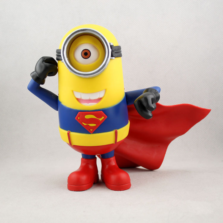 18cm Action Figures Despicable Superman Daddy Minions Despicable me  Superman small yellow people Action &amp; Toy Figures. GH096<br><br>Aliexpress