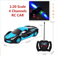 Buy 1:20 Scale Simulation Super Racing Cars beautiful light Rc Speed Radio Remote Control Sports Car Gift 3 + Toys Children for $12.23 in AliExpress store