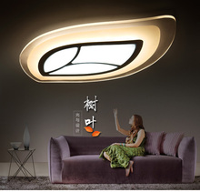 Contemporary contracted ultra-thin Acrylic LED Ceiling lamp Creative leaves sitting room bedroom study  Dining-room lamp