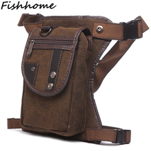 Vintage Popular Men's Waist Packs High Quality Travel Bags Multifunctionl Bag Canvas Waist Bags Leisure Fanny Pack Leg Bag YZ490