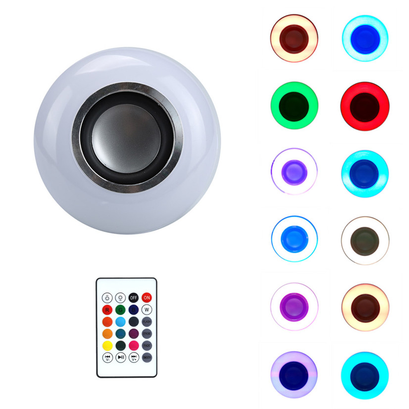 Factory price  LED RGB Color Bulb Light E27 Bluetooth Control Smart Music Audio Lamps Oct12<br><br>Aliexpress