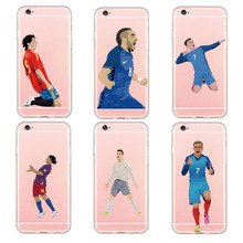 New Soft Silicon Plastic Phone Case For iphone 5 5s SE 6 6s plus Famous Football team Antoine Griezmann Messi Star Case