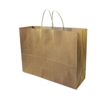 10 Pcs/lot Multifuntion Kraft Paper Bags With Handle Cowhide Primary Colors Gift Party Holiday Recyclable Package Bag 42*31*13cm(China)