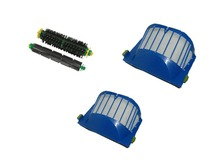 Aerovac Filter+Bristle and Flexible Beater Brush for iRobot Roomba 500 Series with green cleaning head modules