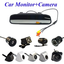 Viecar 4.3 Inch Auto Parking System HD Car Rearview Mirror Monitor with 170 Degrees Waterproof Car rear view camera(China)