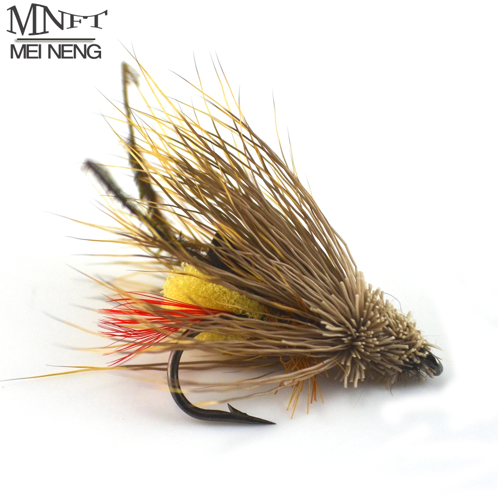 3  X YELLOW MUDDLER  DRY TROUT FLIES sizes 10,12  available